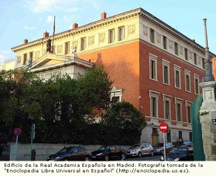 Edificio de la Real Academia Española en Madrid.